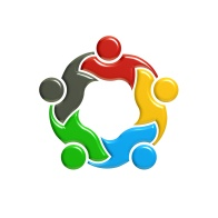People Group Teamwork Holding Logo. 3D Rendering illustration