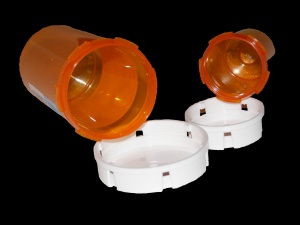 Isolated Empty Pill Bottles